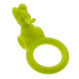 Зелёное эрекционное кольцо с вибрацией NEON FROGGY STYLE VIBRATING RING