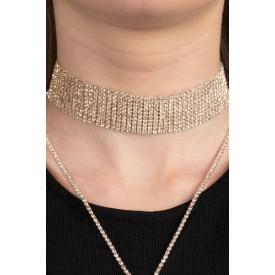 Золотистое украшение на шею COLLIER EMMA OR