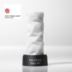 Белый 3D мастурбатор POLYGON